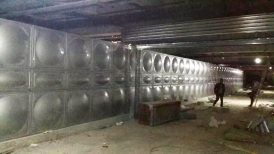 内蒙古鄂尔多斯600立方不锈钢水箱+3套恒压设备